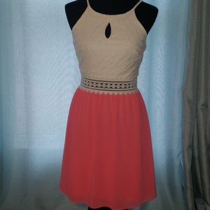Ivory & Coral dress